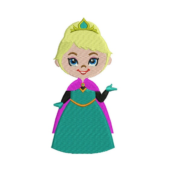 Elsa embroidery design instant download by stitchvalley