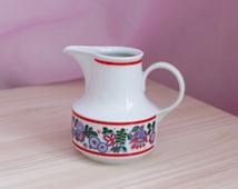 Vintage Milk Jug, German porcelain sauceboat, Henneberg Porzellan Helena 1777, GDR creamer, German tableware, kitchen table serving