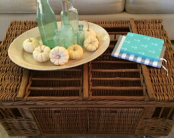 Vintage Wicker/Wood Pigeon Crate Table