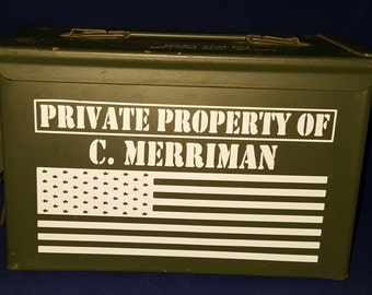 Personalized Ammo Can, 50 Cal Ammo can, Guy Gift, Military Ammo Box. Perfect Gift for, wedding anniversary or birthday, fathers day.