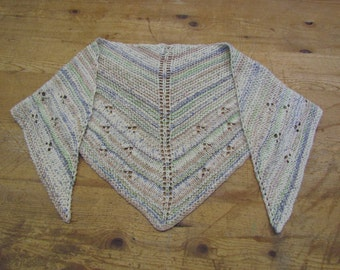 Shawls-scarf knitted cotton triangle shape
