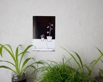 Black plants print