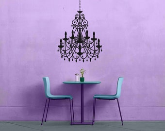 Chandelier - No 2 - Removable Vinyl Wall Decal Sticker