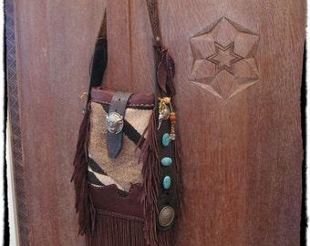 Boho Hippie Saddle Blanket Purse BUFFALO in a BLANKET