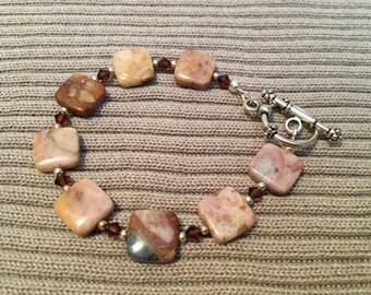 Clearance Sale- Brown swirled Agate Bracelet/Balanced Emotions