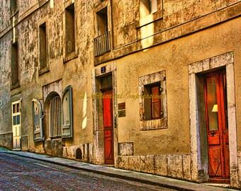 Geneva City, Red Door, Building With Doors, Old Building, Old Geneva, Old Town, Doors and Windows, Summer Walk, Red Doors, Doors and Windows