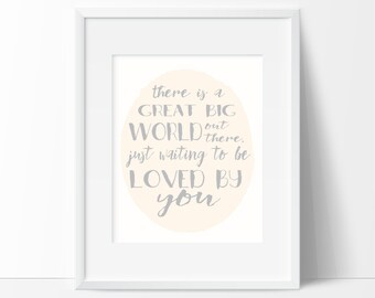 There's a Great Big World Nursery Printable Wall Art