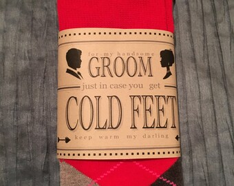 For My Groom Incase You Get Cold Feet, Sock Label Template