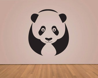 Panda Wall Decal - Wall decal - Wall art - vinyl wall sticker