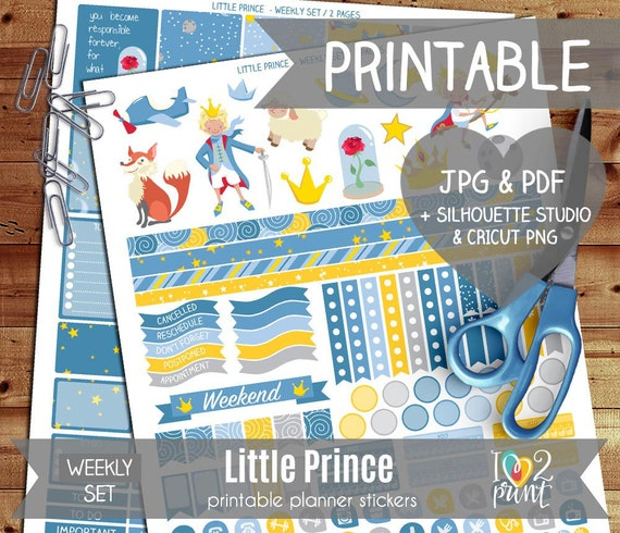Little prince printable planner stickers erin by ilove2print - Sticker petit prince ...