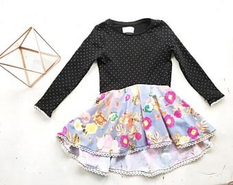 hi lo dress girls 4 T cotton knit handmade