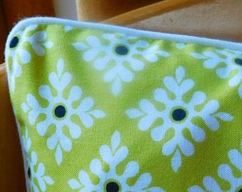 Scandinavian style geometric cushion in yellow, cream and black