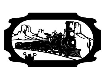 Western Steam Train Wall Art