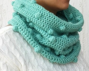 Merino chunky Cowl scarf, Knit Infinity Scarf, Knit Cowl, wool crochet scarf, wool winter scarf, men's cowl scarf, FREE SHIPPING!