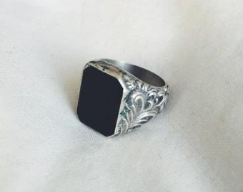 Black Statement Ring