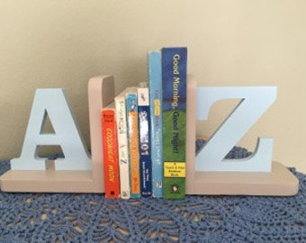 A to Z Boys Bookends