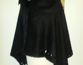 Mohair wool poncho Cape-wraps