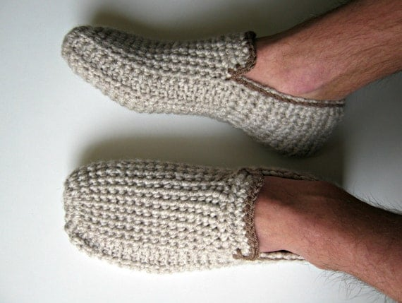 Crochet Mens Slippers House Shoes Crochet Shoes Mens Free Shipping