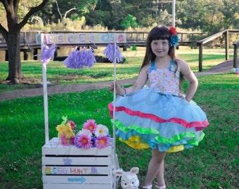 Spring dress/spring tutu dress/Easter tutu dress/