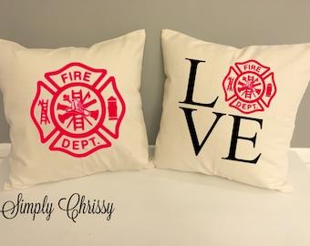Fire Dept LOVE Pillows Set Limited Quantity