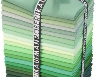 Kona Cotton Fat Quarter Stack-Greens