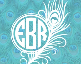 Peacock Monogram Frame Cutting Files in Svg, Eps, Dxf, Png, Jpeg, and Studio for Cricut & Silhouette