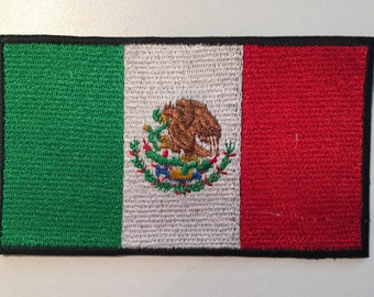 Mexico Flag Iron On Patch - 100% Embroidered - 3 sizes