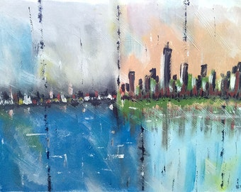 Cityscape,Abstract Art,Abstract Painting,Large Art, Canvas Art,Modern Wall Art,Large Abstract Painting,Acrylic,Painting On Canvas,decor