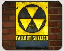 Fallout Shelter Warning Mousepad