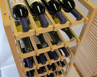 Beech Wood Wine Rack Large Size holds 32 Bottles