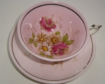 DW Paragon Minty Pink Tea Cup and Saucer