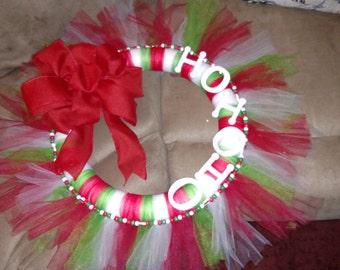 Ho ho ho wreath