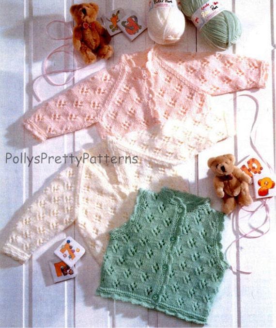 Knitting Pattern Chest Sizes : PDF Knitting Pattern for 2 Styles of Cardigans Raglan & V Neck