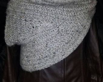 Hunger Games INSPIRED Grey Knit Cowl