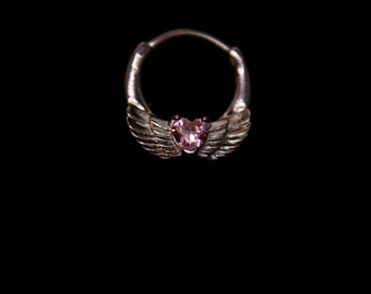 Winged red & pink Septum Clicker