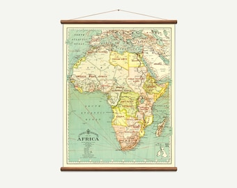 Pull Down Wall Map - Africa