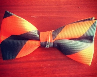 Orange and Green bow tie