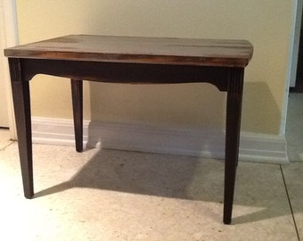 End table antiqued
