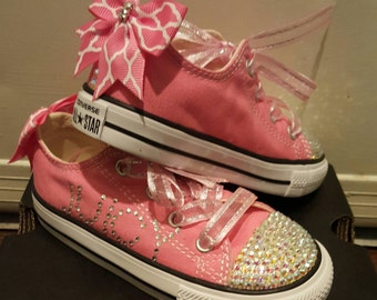 Pink Bling Converse