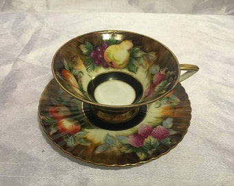 Lefton China Hand Painted Cup and Plate