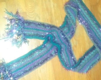 Scarf with Fringe and Beads
