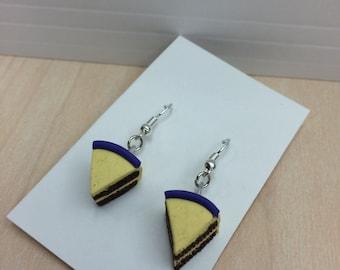 Cake Earrings - Chocolate
