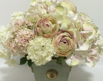 Lovely Breath Silk Flower Arrangement