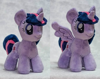 Plush Twilight Sparkle Magnetic Wings Custom Chibi Pony 8 inches My Little Pony Toy