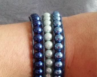 Blue gradient wrap bracelet