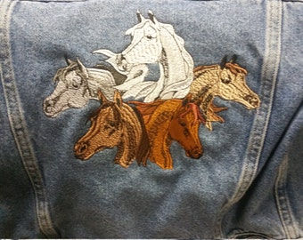 Horse denim jacket