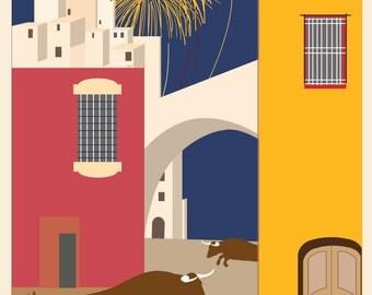 SP02 Vintage Spanish Spain Travel Poster Print