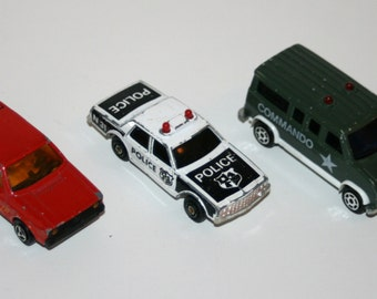 Vintage MAJORETTE Lot of 3 Diecast Vehicles - Made In France