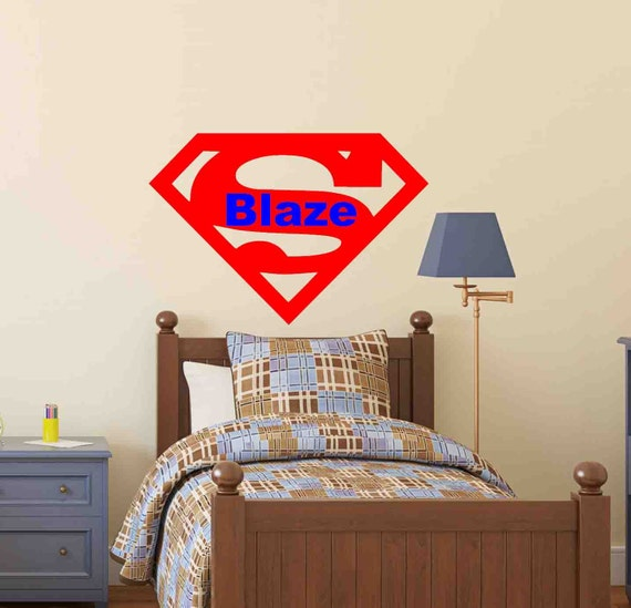 superman wall decal superman decor superman laptop