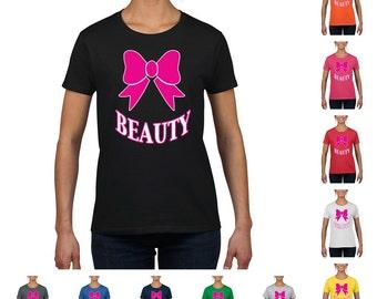 Beauty (Pink) Women's Fashion Round Neck T-Shirt